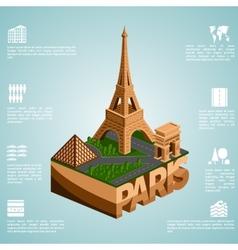 Isometry city Paris vector image
