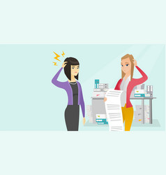 multicultural business woman holding long bill vector image vector image