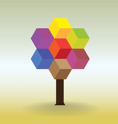 Tree form cubes vector image vector image
