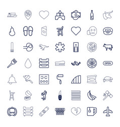 49 color icons vector