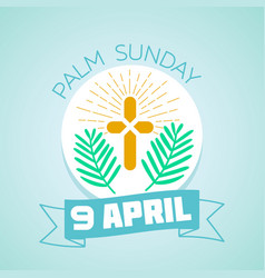 9 april palm sunday vector