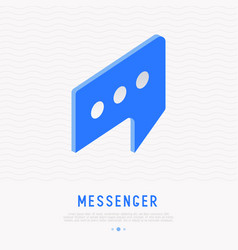 app logo for messenger or chat vector image