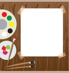 art palette with paint vector image