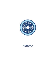 Ashoka concept 2 colored icon simple line element vector
