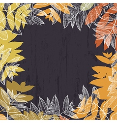 Autumn abstract frame design with empty space for vector