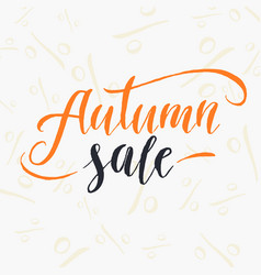 autumn sale lettering on a white background vector image