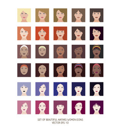 avatars women icons-04 vector image