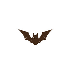 bat with angry face and open wings fly icon vector image