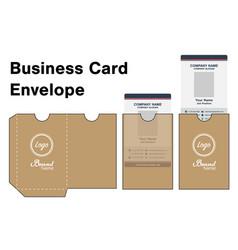 business card holder folder package template vector image