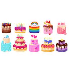 Cartoon birthday holiday party celebration vector