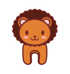 cartoon lion animal image vector image
