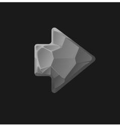 cartoon stone game assets arrow vector image