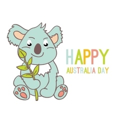 Celebratory Australia Day background vector image