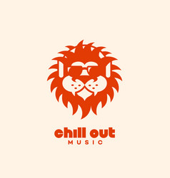 chill out logo vector image