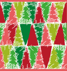 christmas color stamp pattern vector image