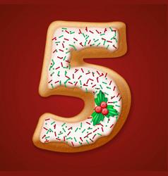 Christmas cookies numbers vector image