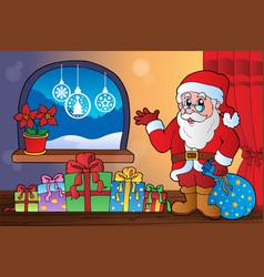 christmas indoor theme 8 vector image