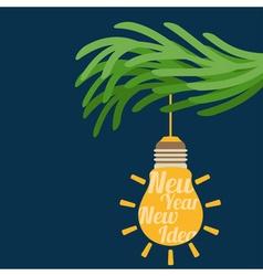 concept christmas balls bulb idea vector image