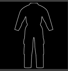 coverall the white path icon vector image