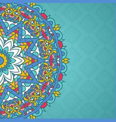 Decorative mandala styled background vector