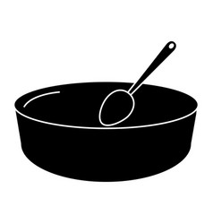 deep plate with spoon vector image