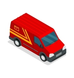 Delivery isometric 3d van car truck cargo vector image