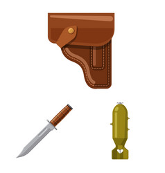 design of weapon and gun icon collection vector image