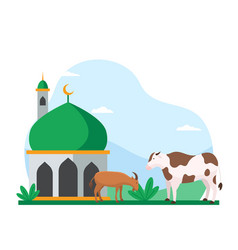 eid al adha islamic holiday sacrifice of vector image