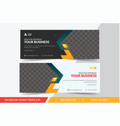 Facebook cover design template for business vector