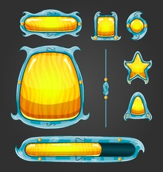 Fantastic game user interface assets vector