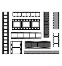 film strip realistic cinema tape blank bands vector image