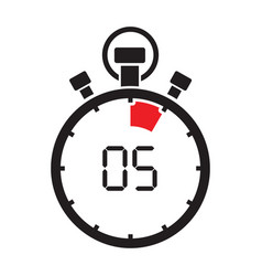 five minute stop watch countdown vector image
