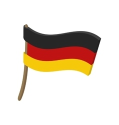 Flag of Germany icon cartoon style vector image