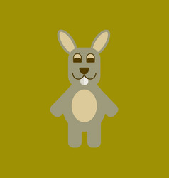 Flat icon stylish background rabbit bunny vector