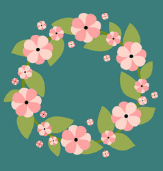 floral wreath with place for vector image