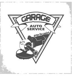 Garage grinder logo vector