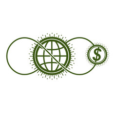 global cooperation and business conceptual logo vector image
