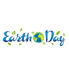 happy earth day card vector image