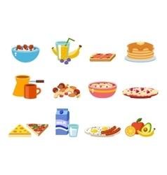 Healthy breakfast food vector