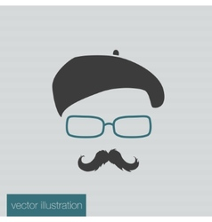 Icon man in a headdress vector image