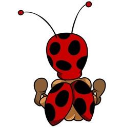 Ladybug sitting back vector