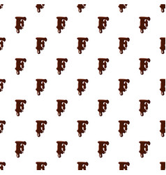 Letter f from latin alphabet made of chocolate vector