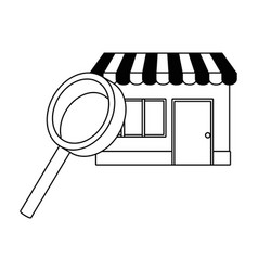 Lupe and store design vector