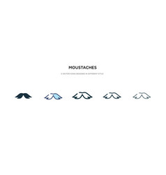 Moustaches icon in different style two colored vector