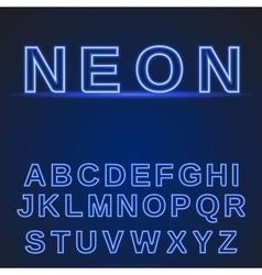 Neon alphabet Glowing font vector