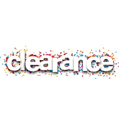 Paper clearance confetti sign vector