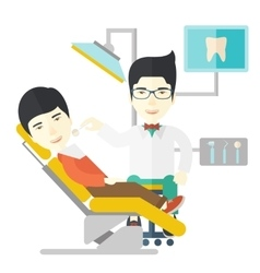 Patient and dentist vector image