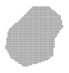pixel map of nauru dotted map of nauru isolated vector image