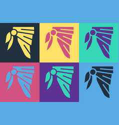Pop art bandana or biker scarf icon isolated on vector