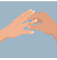 Proposal of marriage flat concept vector